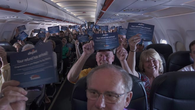 Passengers on Allegiant Flight 104 from Pittsburgh to Punta Gorda had their airfares refunded a part of a special tax day promotion by the company.