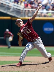 Florida State starter Drew Parrish lasted 5 2/3's innings