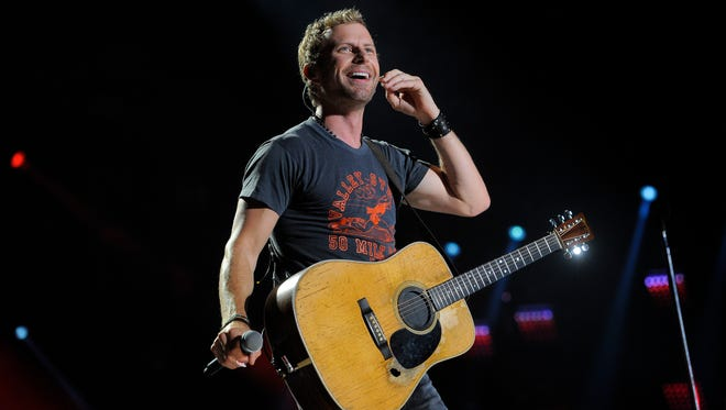 Dierks Bentley performs at the CMA Music Festival at LP Field Thursday June 5, 2014, in Nashville, Tenn.