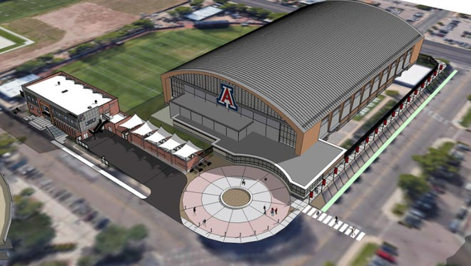 How the new Arizona football indoor practice facility could look.