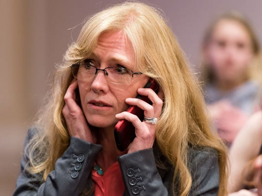 Stephanie Hansen receives a phone call from Joe Biden