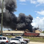 Elisha White sent this photo of smoke from a fire at Garden Street Recycling.