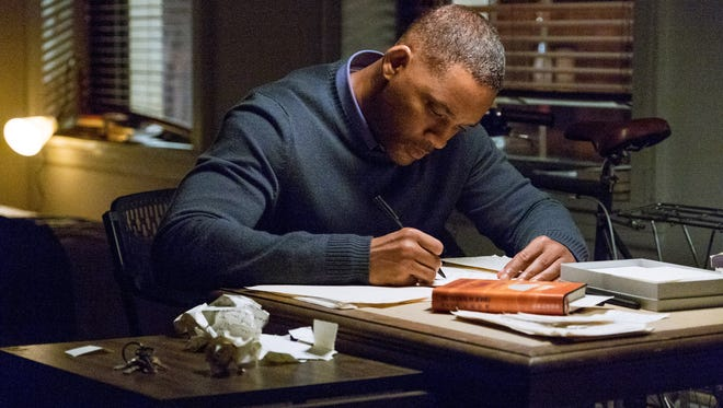 Howard (Will Smith) writes cathartic letters to Time, Love and Death to come to grips with the loss of his daughter in 'Collateral Beauty.'