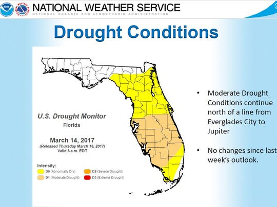 Drought index as of March 14, 2017.