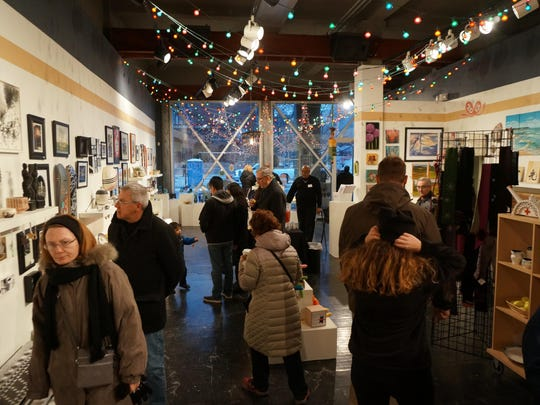 """First Grabs Friday"" at the Detroit Artists Market marks the start of Art for the Holidays."