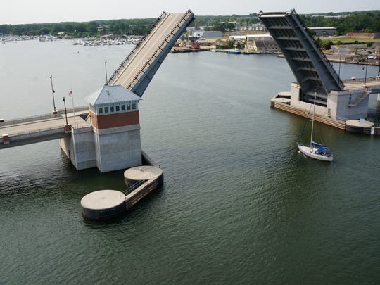 This photo of the Maple-Oregon Bridge in Sturgeon Bay was taken Tuesday by the friendly drone owned by Ken Simonsen.
