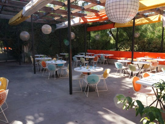 The patio of Norma's restaurant at the Parker Palm Springs.