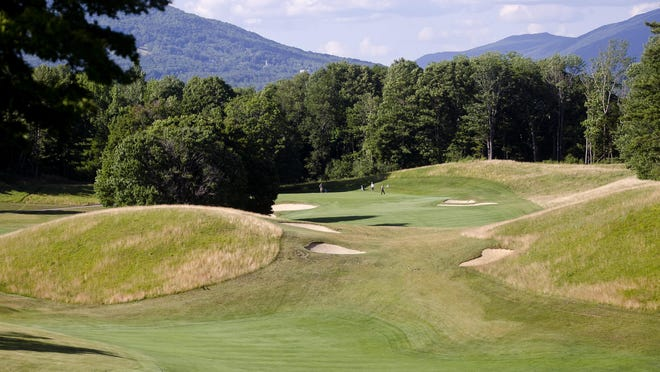 At nearly 600 yards, Ekwanok Country Club's iconic seventh hole, above, is a rarity in modern golf, an undeniable three-shot par-5.