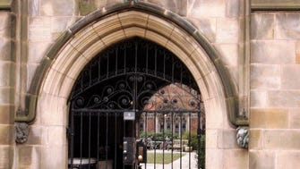 A rear gate at Calhoun College, one of Yale's 12 residential colleges for undergraduates as shown in this 2007 file photo.