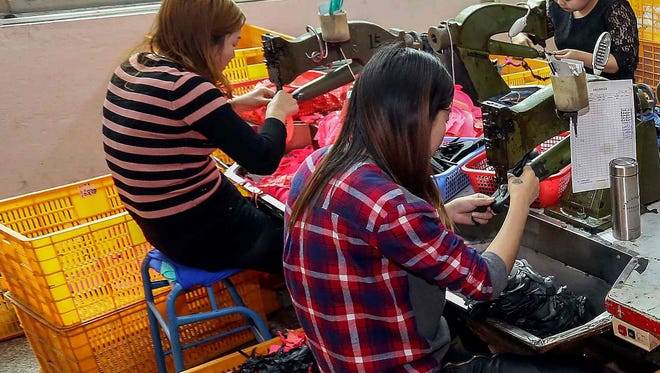 Thousands of Chinese employees sew garments and make shoes in factories, but some have questioned working conditions