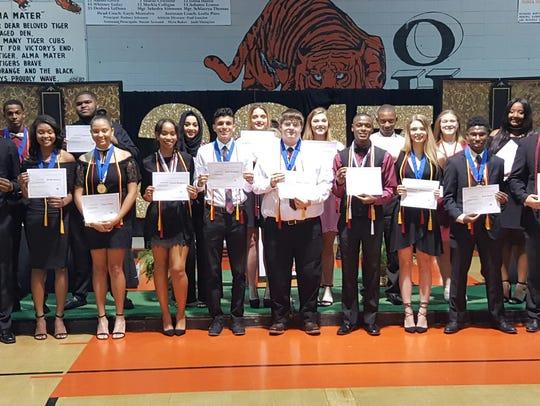 Opelousas High School seniors were recognized in an