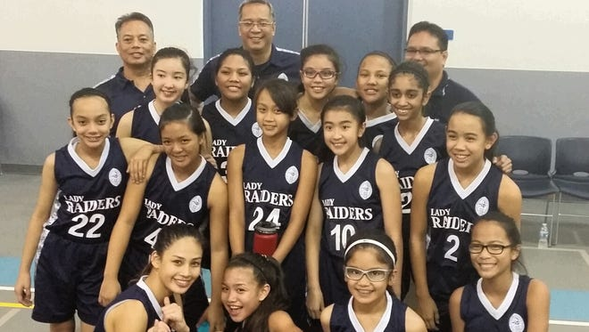 The St. Anthony Raiders won the Independent Interscholastic Athletic Association of Guam Middle School Girls' Basketball League championship with a 10-0 record.