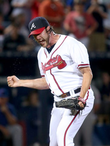 Jason Grilli has 21 saves with the Braves.