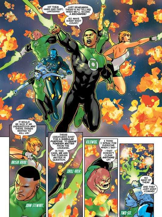 green lanterns are lost in space drama