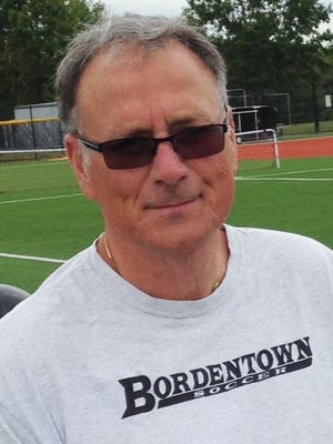 Bordentown girls' soccer coach Dominick Castaldo picked up his 350th career win on Sept. 15 against Maple Shade.