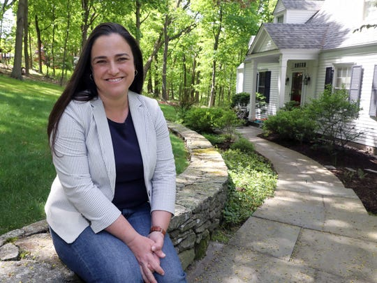 Ivy Pool, who became active after the 2016 election, ran for a Town Board seat in New Castle and won in November. Here she is at her home in Chappaqua.