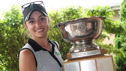 Allyson Geer became a two-time winner of the Michigan Women's Amateur and the third golfer in the past 23 years to repeat.