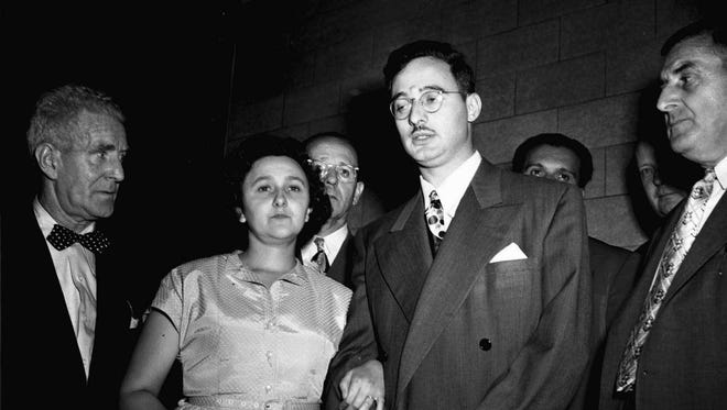 In this 1951 file photo, Ethel and Julius Rosenberg are shown during their trial for espionage in New York.