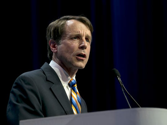 In this file photo, California Insurance Commissioner Dave Jones speaks during the California Democratic Party Convention in Sacramento.