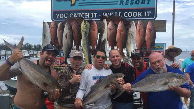 It was a full fish box Sunday for the party fishing aboard Capt. Terry Wildey's Big Easy charters out of Capt Hiram's Resort in Sebastian.