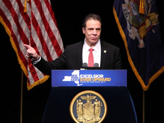 """Gov. Andrew Cuomo delivers the """"Mid-Hudson"""" State of"""
