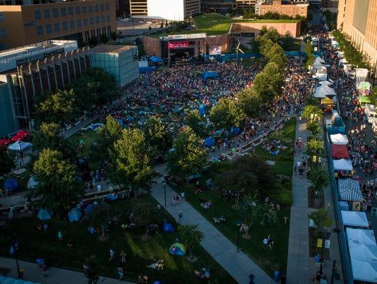 The 80/35 music festival fills up Western Gateway Park