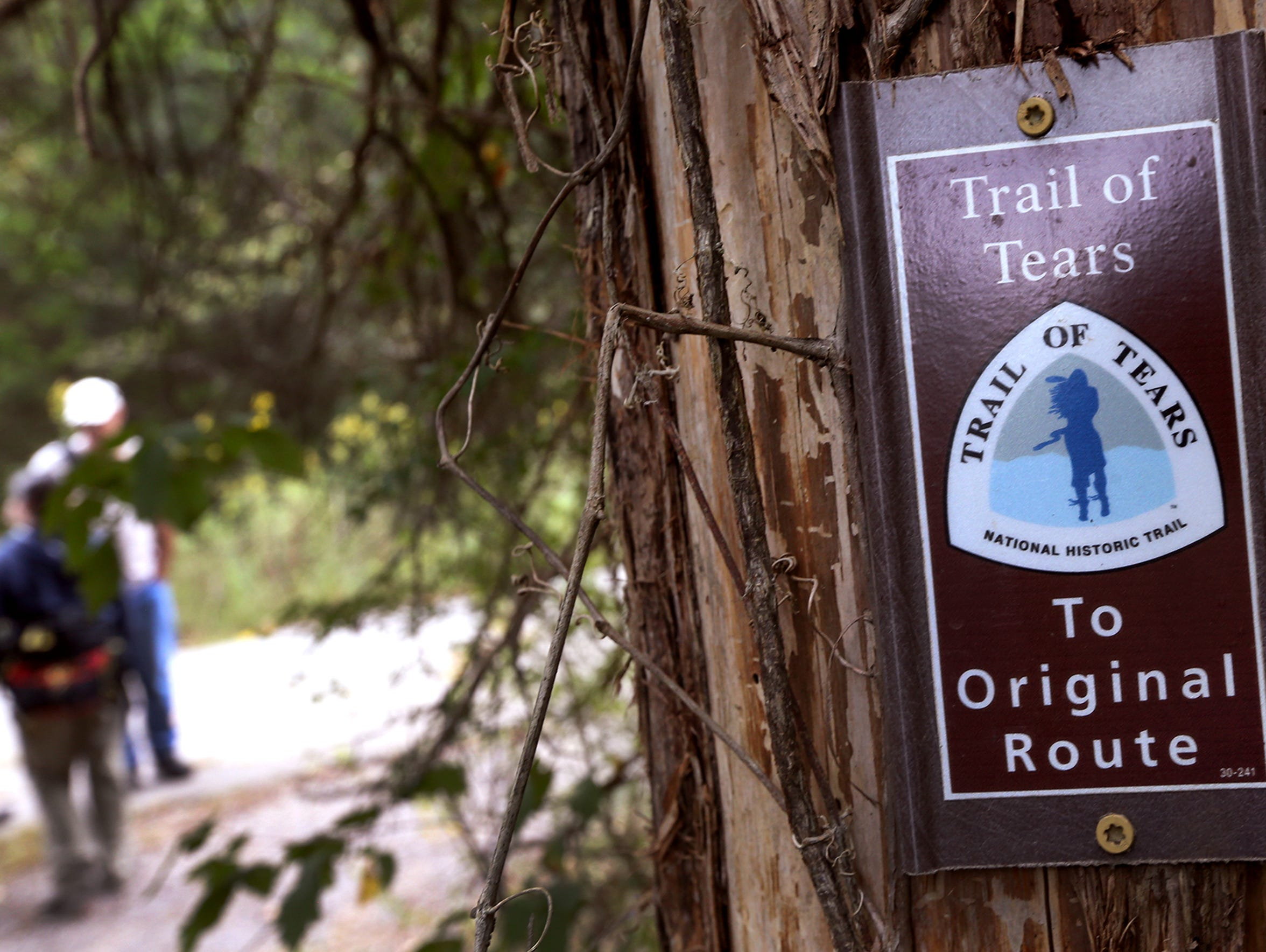 A few signs mark the location of the Trail of Tears