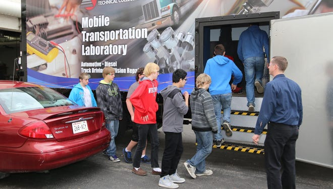 Local middle schools students visit the campus of Fox Valley Technical College in Appleton earlier this year.