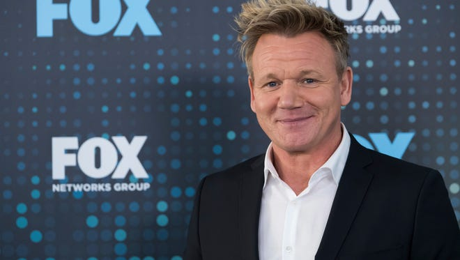 Gordon Ramsay attends the FOX Network Group 2017 Upfront post-party at Wollman Rink in Central Park on Monday, May 15, 2017, in New York.