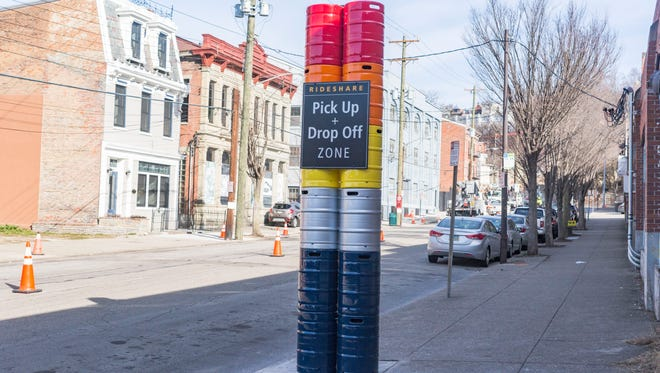 New marker in OTR for ride pick-up and drop-off.
