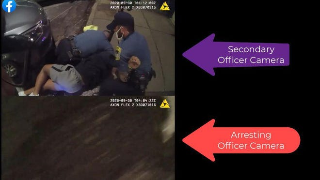 Screen grab from police bodycam video released by ACCPD.