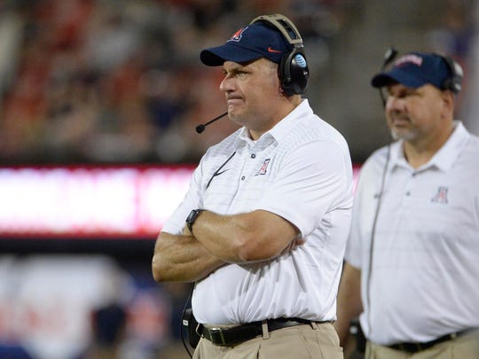Rich Rodriguez was fired by Arizona on Tuesday.