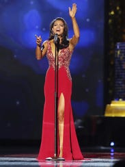 Miss Oklahoma 2017 Triana Browne performs in the talent