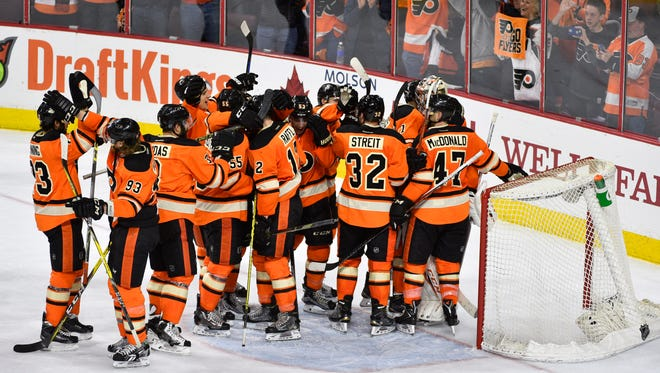 The Flyers clinched a playoff spot Saturday and will face the Washington Capitals in the first round.