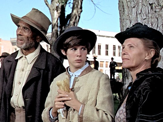 Connie Sawyer, on the right, with Kim Darby and Ken