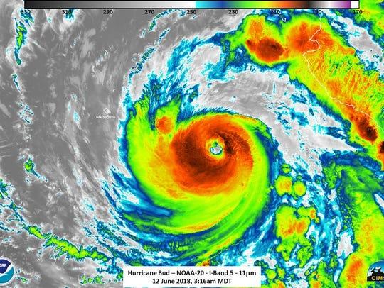 Hurricane Bud 11 a.m. June 12, 2018.