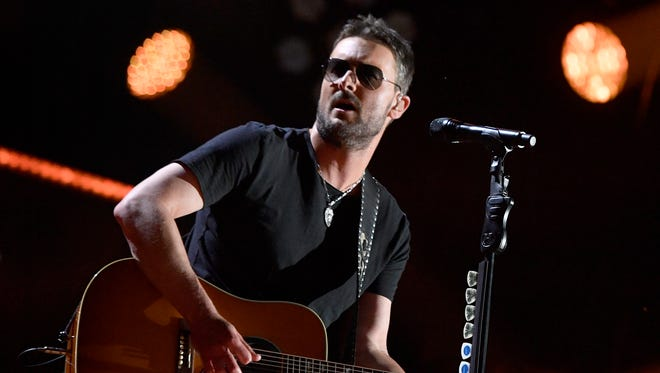Eric Church performs during the CMA Fest at Nissan Stadium Friday, June 9, 2017, in Nashville, Tenn.