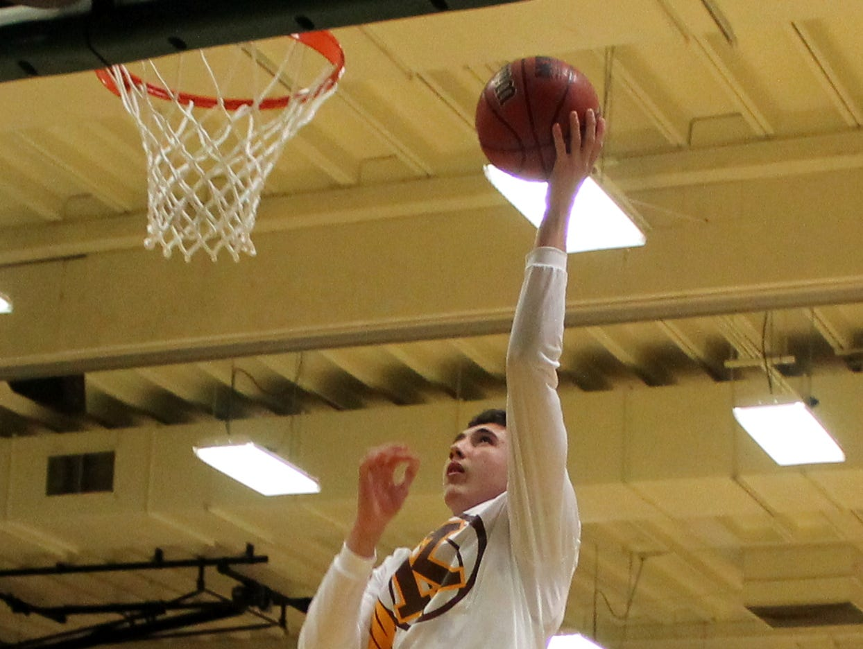 Kickapoo junior forward Jared Ridder warms up to play Glendale in the final of the 2015 MBCA Hall of Fame Classic Dec. 5 at Parkview. Ridder scored 28 points and nabbed tournament MVP honors.