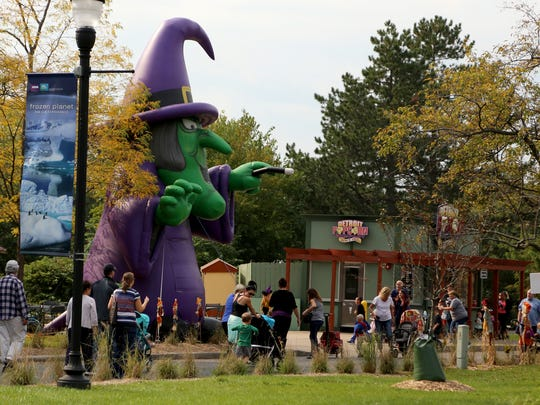 """The Detroit Zoo's annual """"merry-not-scary"""" Zoo Boo in October, 2016."""