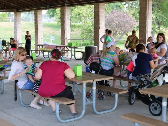 The Sandusky County Breastfeeding Coalition held a local 'Big Latch On' event in Clyde on Saturday, as part of a larger grassroots movement to help promote and support breastfeeding families.