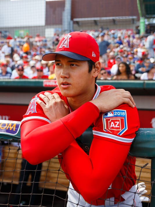USP MLB: SPRING TRAINING-LOS ANGELES ANGELS AT CLE S BBA CLE LAA USA AZ