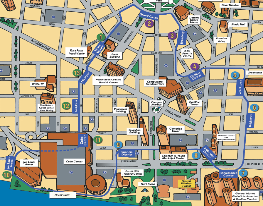 Detroit Thanksgiving Day Parade 2015 Parking map and guide