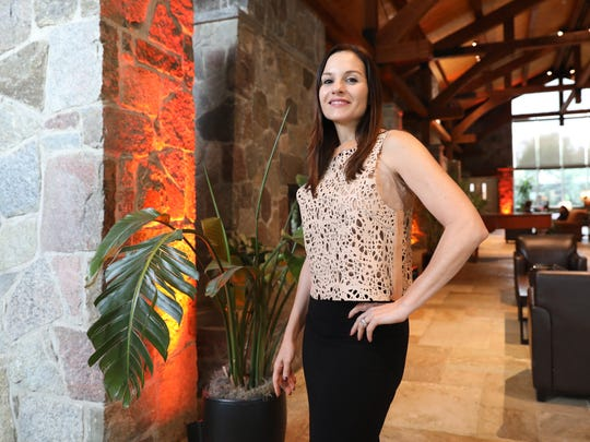 Kara DioGuardi, a former Westchester resident and American Idol judge, is pictured at the DoubleTree by Hilton in Tarrytown, Nov. 16, 2017.