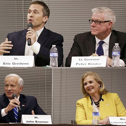 The four Republican candidates for Governor of Missouri,