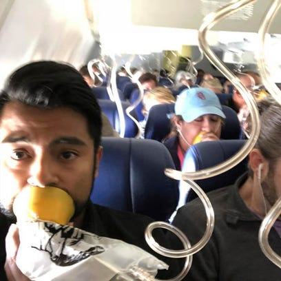Images from terrifying Southwest flight show passengers didn't put oxygen masks on right