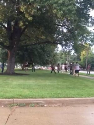 A fight broke out a few blocks south of the fairgrounds on Monday, sparking nightly outbreaks of fights inside the fairgrounds or near the fair.