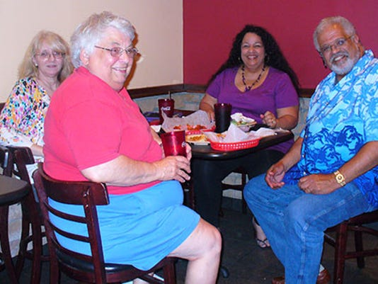 Jo Ott, pictured second from left in the red shirt, was a longtime reader of Only in York County and a great resource on Pennsylvania history.