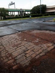 Midsouth Paving discovered historic brick, pictured