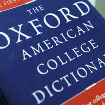 """View of the Oxford American College dictionary taken in Washington on November 16, 2009. The New Oxford American Dictionary named """"unfriend"""" -- as in deleting someone as a friend on a social network such as Facebook -- its word of the year on Monday. Oxford University Press USA, in a blog post, said """"unfriend,"""" a verb, had bested netbook, sexting, paywall, birther and death panel for the honor. """"Unfriend has real lex-appeal,"""" said Christine Lindberg, senior lexicographer for Oxford?s US dictionary program."""