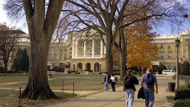 Bascom Hill on the University of Wisconsin campus in Madison.